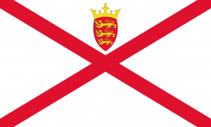 Flag of Jersey looks like this